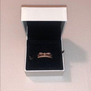 2 Pandora Rose Gold Rings